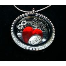 "Unikaten inspiracijski medaljon ""SLEDI  SRCU"""